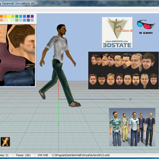 SimWalk 3D Human Actor Modeller