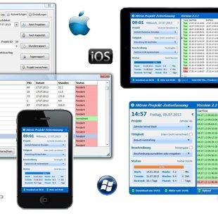 PCost Mobiles Projekt Zeiterfassungs System