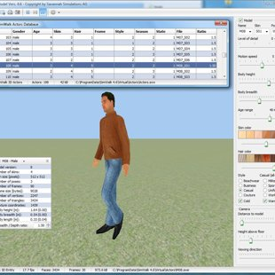 SimModel 3D Actor Model Designer