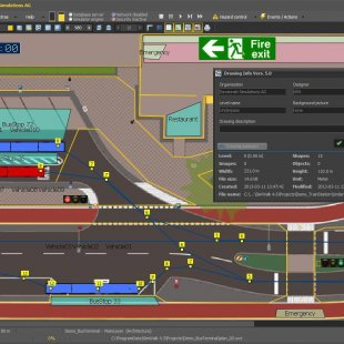 SimWalk Transport Pedestrian Simulation