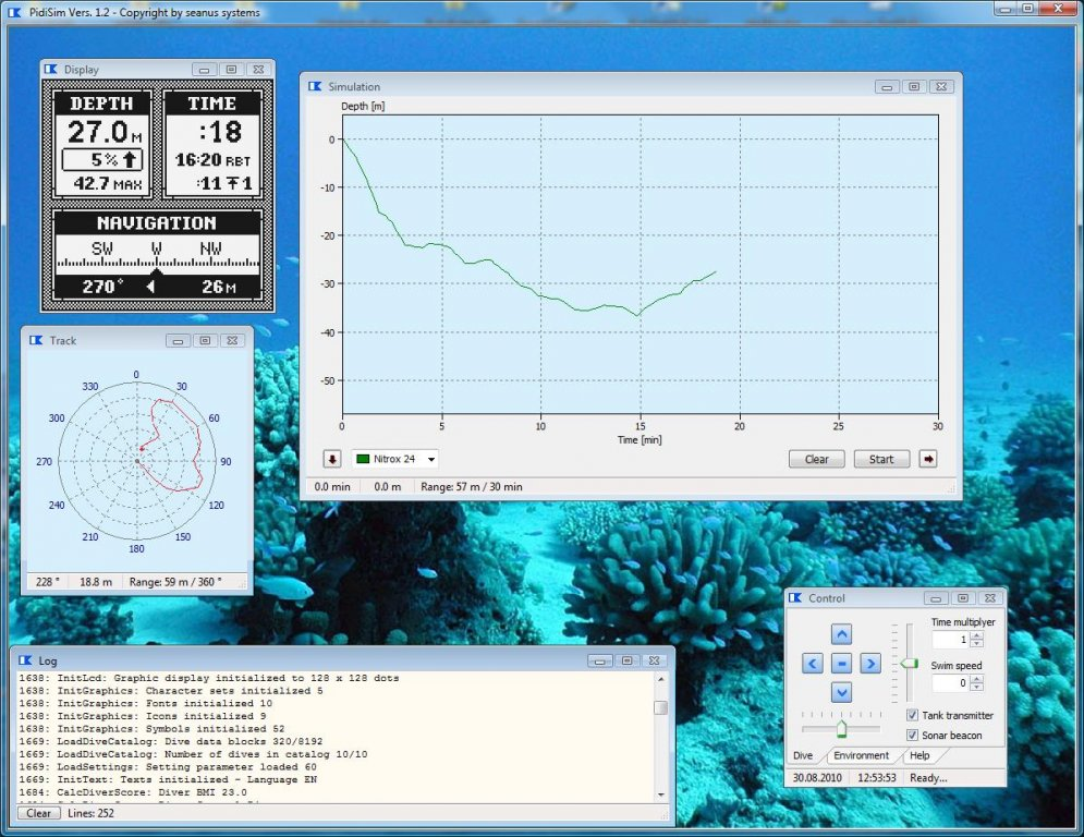 PIDIsim Dive Simulation and Analysis Software